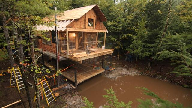 how to get your own cabin in the woods