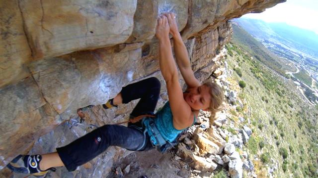 Hazel Findlay talks about her experiences being one of the few professional female rock climbers.