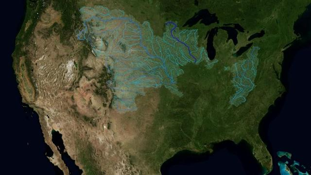 Map Shows Every River That Flows To The Mighty Mississippi - Two longest rivers in the united states