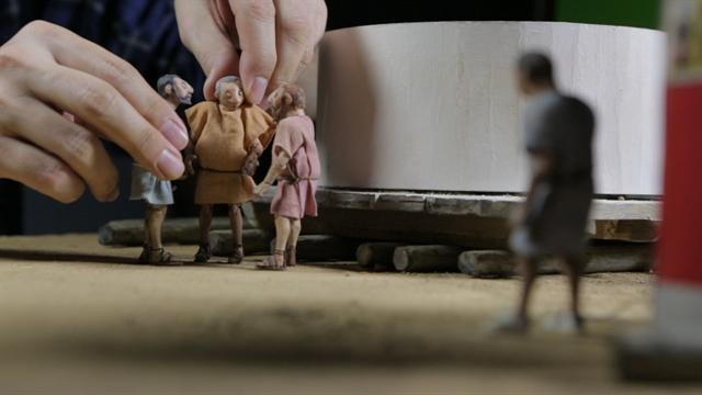Go behind the scenes of National Geographic's stop-motion video about Trajan's Column.