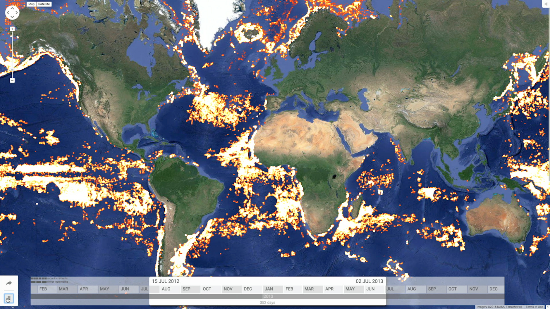 Tracking Illegal FishingFrom Space - Satellite fishing maps