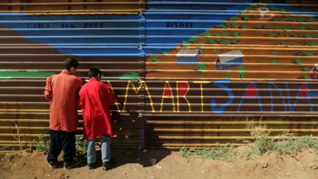 Kids Turn U S Mexico Border Wall Into An Art Project