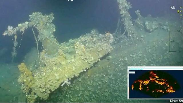 See Wreckage of Vessel That Fired First American Shot in WWII