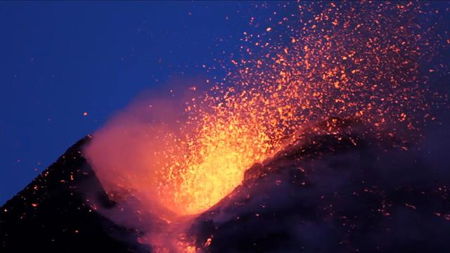 Spectacular Footage Shows Fiery Mt Etna Eruption
